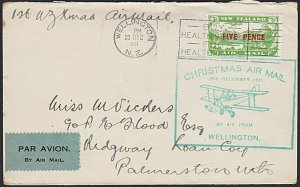 NEW ZEALAND 1931 first flight cover Wellington to Palmerston North..........H623