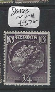 CYPRUS  (P0406B)  3/4 P1  SG 123   MNH