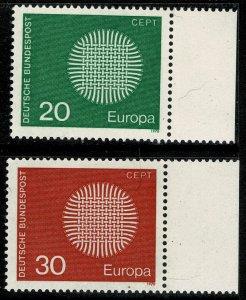 GERMANY 1970 EUROPA MARGIN SET SG1520-21 MINT (NH) SUPERB