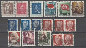 COLLECTION LOT # 3694 GERMANY DDR 17 STAMPS1952+ CLEARANCE CV+$22