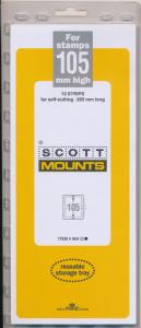 Prinz Scott Stamp Mount 105/265 mm - CLEAR (Pack of 10) (105x265 105mm) STRIP