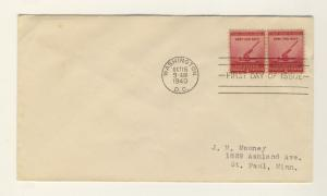 US - 1940 - Scott 900 FDC - 2c For Defense (ARMY & NAVY) - Pair