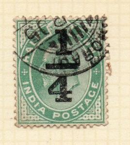 India 1905 Early Issue Fine Used 1/4a. 083581