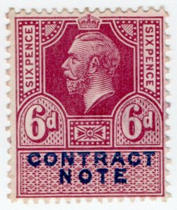 (I.B) George V Revenue : Contract Note 6d