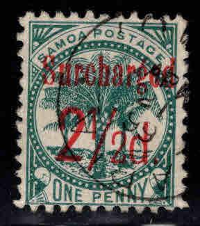 Samoa Scott 28 Used surcharged stamp