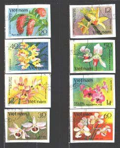 Vietnam. 1979. 1055-62. Flowers, flora. USED.