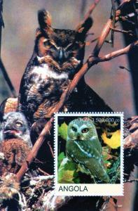 Angola 2000 Owls SS No.I  Perf. MNH VF