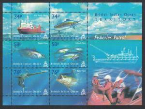 BIOT Marlin Tuna Swordfish Fisheries Patrol Sheetlet of 6v SG#MS295