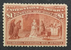 MOMEN: US STAMPS #241 MINT OG H LOT #32576