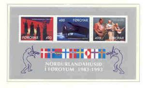 Faoe Islands Sc 249a 1993 Nordic House stamp sheet mint NH