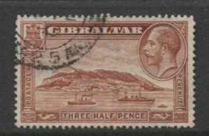 Gibraltar - Scott 97 - KGV Pictorials -1931- Used - Wmk 4 - Single 1.1/2p Stamp