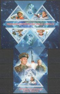 TG709 2013 TOGO SPACE FAMOUS PEOPLE YURI GAGARIN SALYUT 6 KB+BL MNH