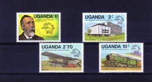 Uganda 1981 Trains-Aircraft-UPU Set (4) MNH SG#336-339