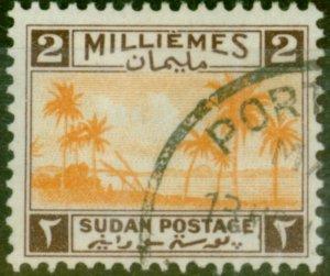 Sudan 1941 2m Orange & Chocolate SG82 Very Fine Used Port Sudan CDS