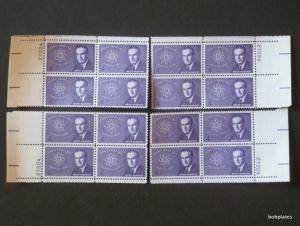 #1200 McMahon Matched Set of 4 Plate Blocks 27224 VF NH