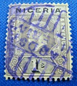 NIGERIA 1914  -  SCOTT # 15   USED    (V2n6)