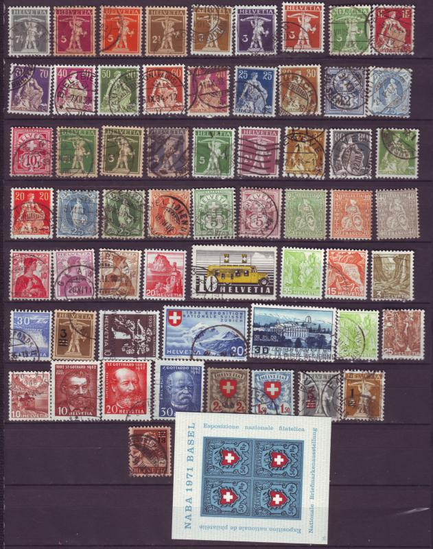 J12634 JLstamps old switzerland used mh, good value, ss mnh