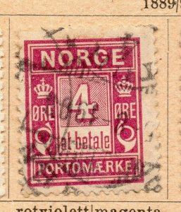 Norway 1889-93 Early Issue Fine Used 4ore. NW-07992
