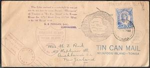 TONGA 1938 SS Maunganui Tin Can Mail cover................................73984W