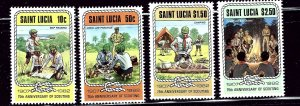 St Lucia 587-90 MNH 1982 Scouting Year    (ap2409)