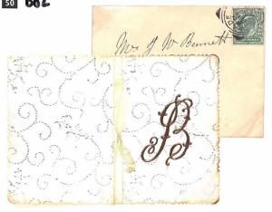 GB Cover Bedfordshire Sandy CHRISTMAS CARD 1903 {samwells-covers}BD2