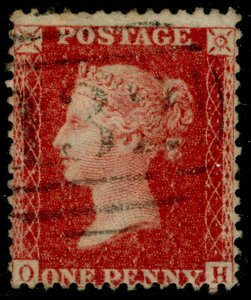 SG40, 1d rose-red PLATE 49, LC14, FINE USED. Cat £18. OH