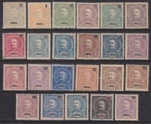 Angola 18998-1903 SC 38-60 Set / Mun 38-52,79-83 Mint Set Some NGAI