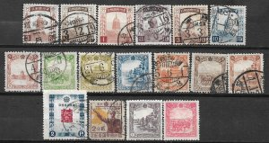 COLLECTION LOT OF #524 MANCHUKUO 17 STAMPS 1934+ CV+$21