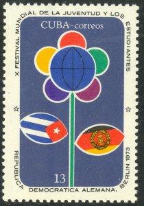 CUBA 1973 Communist Festival of Youth Berlin DDR Germany Issue Sc 1811 MNH