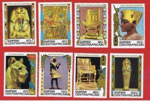 Central Africa #349-356  MNH OG  Treasures  Free S/H