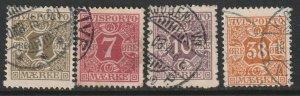 Denmark P1,P3,P4,P6 newspaper partial set used