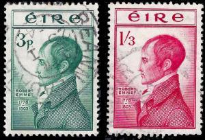 Ireland 1953 Sc 149-50 UVF Robert Emmett