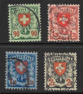 Switzerland Scott 200-203 Used  complete set 2015 CV $21.25