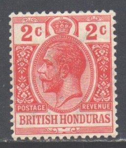 Br Honduras Scott 76a - SG102b, 1913 George V 2c MH*