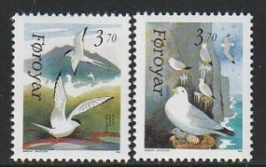 1991 Faroe Islands - Sc 224-5 - MNH VF - 2 single - Birds