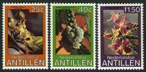 Netherlands Antilles 441-443, MNH. Flowering Trees, 1979