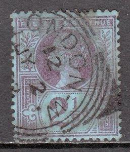 Great Britain - Scott #114 - Used - SCV $2.50 (Ref. 1/3)