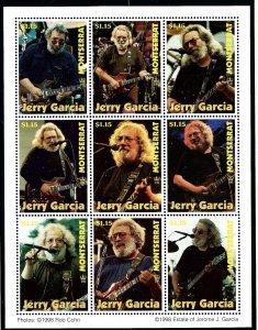 Montserrat 955 MNH 1998 Jerry Garcia sheet of 9
