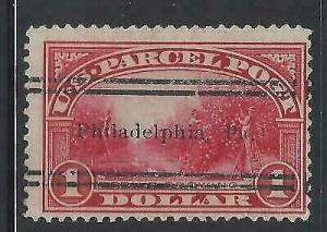 VEGAS - USA $1 Parcel Post Precancel - Sc# Q12 - Used - Nice, Solid (DB10)