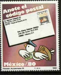 MEXICO 1270, Promotion for the Use of Zip Codes. MINT, NH. VF.
