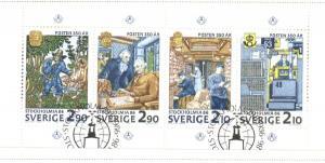 Sweden Sc  1610a Stockholmia 86 stamp bklt pane used