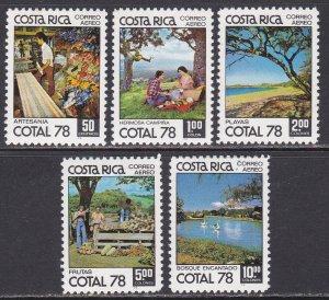 Costa Rica Sc #C706-C710 Mint Hinged