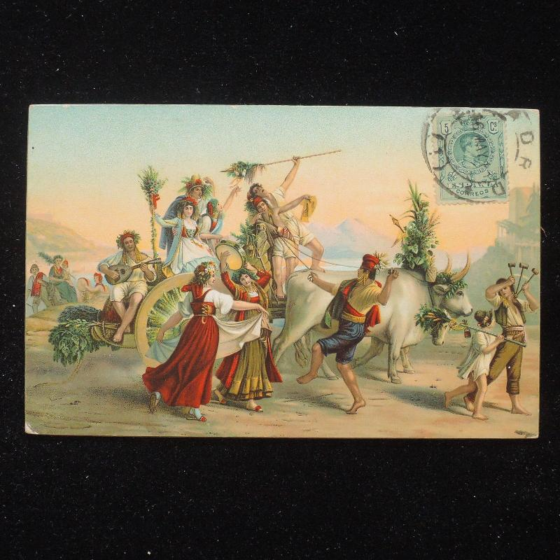 ZS-AA759 SPAIN - Postcard, 1910 To Milan, Dancers