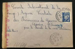 1944 France Concentration Internment Camp Les Alliers Cover To Redcross