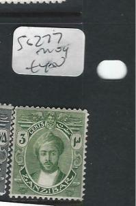 ZANZIBAR  (P0303B)  SULTAN  SG  3C  SG 277   MOG