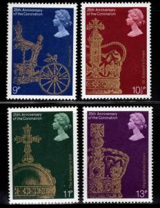 Great Britain Scott 835-838 MNH** 1978 Gold Coach set