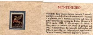 MONTENEGRO 1941 AEREA SOPRASTAMPATO D´ITALIA 50 CENTESIMI MNH