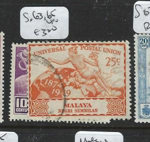 MALAYA NEGRI SEMBILAN (P2704B) UPU  SG 63, 65  VFU