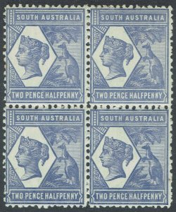 SOUTH AUSTRALIA 1894 QV KANGAROO 21/2D VIOLET BLUE WMK CROWN/SA */** PERF 13