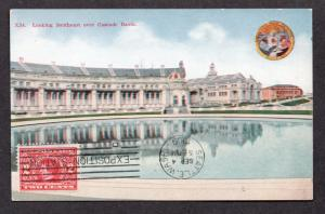 **US 1909 Alaska Yukon Pacific Expo Post Card #33, SC# 370, CV $65.00